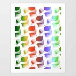 Leaves Descent Art Print