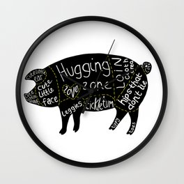 Cuts of Pig Wall Clock
