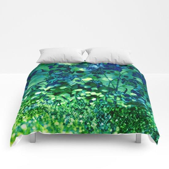 Bokeh floral Comforters