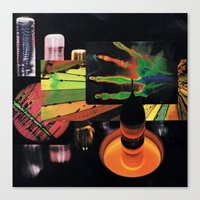 sci fi Canvas Prints featuring sci-fi beach by Hugo Barros