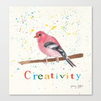creativity Canvas Prints featuring Creativity by Tammy Kushnir