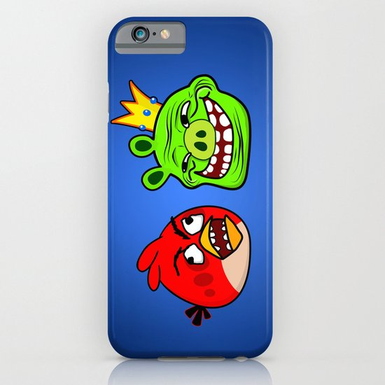 Trollface Pig and Rage Guy Angry Bird iPhone & iPod Case