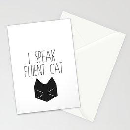 I Speak Fluent Cat Stationery Cards