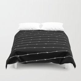 Cool black and white barbed wire pattern Duvet Cover