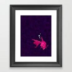 A fish! A fish! A fishy... OH!! Framed Art Print