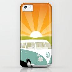 Retro Volkswagen Bus - Sunset iPhone 5c Slim Case