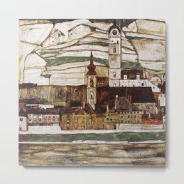 Egon Schiele - Stone on the Danube Metal Print
