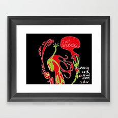 Can't Concentrate Framed Art Print