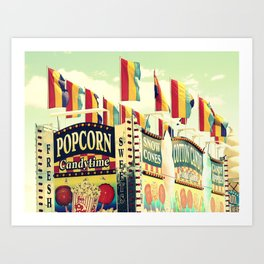 Popcorn Candytime Art Print