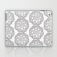Silver grey lace floral Laptop & iPad Skin