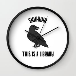 Shhhhhh This is a Library Wall Clock