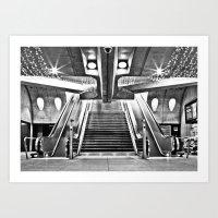Train Station in Zurich Art Print