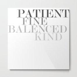 Skinny Love Typography Metal Print