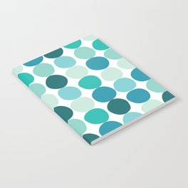 Midcentury Modern Dots Blue Notebook