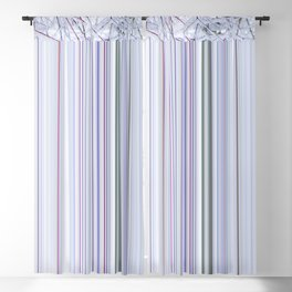 Violet winter glitches Blackout Curtain