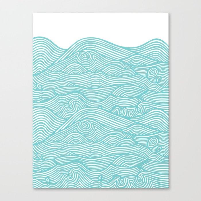 Waves Leinwanddruck