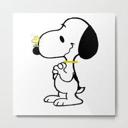 snoopy_with friend Metal Print