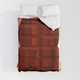 Masala Chai - Red Door in India - Millenial Pink Magenta Maroon - Antique Eclectic Travel Architecture Duvet Cover