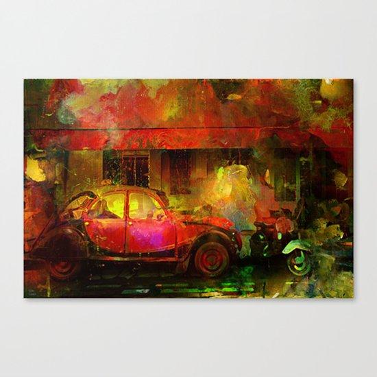 The street bistrot Canvas Print