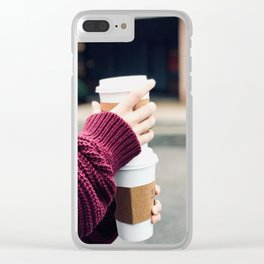 Lattes Clear iPhone Case