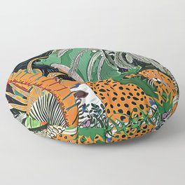 In the mighty jungle Floor Pillow