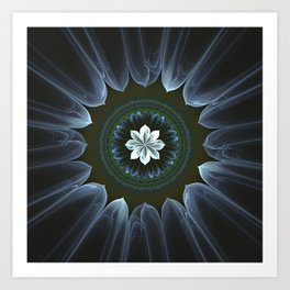 Blossom Within in White Art Print