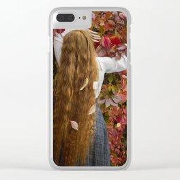 Edwardian Lady Clear iPhone Case