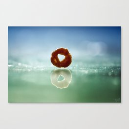 The Runaway Cheerio Canvas Print