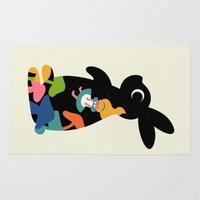 alice wonderland Area & Throw Rugs featuring Alice by Andy Westface