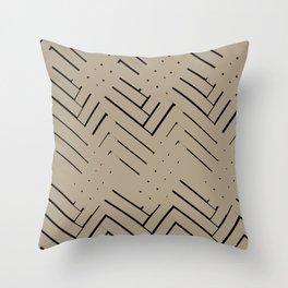 brick composition BB Throw Pillow