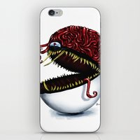 pokeball iPhone & iPod Skins featuring Evil pokeball  by Capadochio
