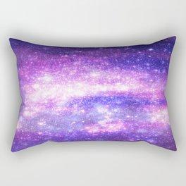 Purple Pastel Stars Rectangular Pillow
