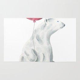 Polar Bear Greetings Rug