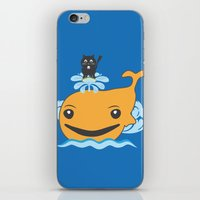 surfing iPhone & iPod Skins featuring Surfing by Hagu