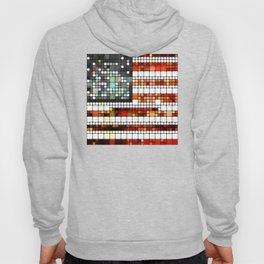 Retro Abstract American Flag Hoody