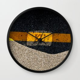 Rock Chalk Sidewalk Wall Clock