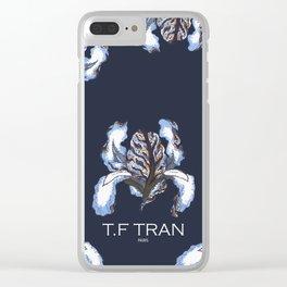 T.F TRAN BLUE SNAKE IRIS Clear iPhone Case