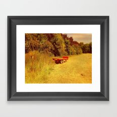 Summer Mowing. Framed Art Print