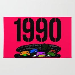 """Mourning My Youth"" Series   #9:  Teenage Mutant Ninja Turtles  (1990) Rug"