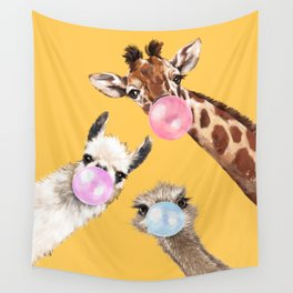 Bubble Gum Gang in Yellow Wall Tapestry