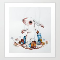 Very big rabbit Art Print