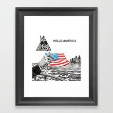Hello America Framed Art Print