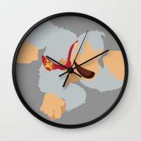 donkey kong Wall Clocks featuring Donkey Kong(Smash)White by ejgomez