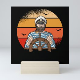 Sail Sailing Ship Retro Vintage Captain Gift Mini Art Print