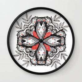 Mandala - Birds Wall Clock