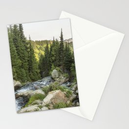 End of the Day at the Top of Myrtyle Falls Stationery Cards