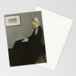 Whistler's Mother-old paiting Stationery Cards