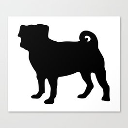 Simple Pug Silhouette Canvas Print