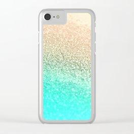 GOLD AQUA Clear iPhone Case