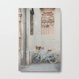 Peterskirche bicycles, Munich Metal Print